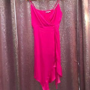 Vici - Radiance Ruched Satin Midi Dress